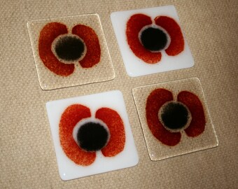 Poppy Appeal Coasters - Made to order in any colour