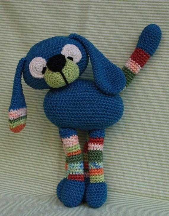 Amigurumi Etsy : Amigurumi CRAZY DOG pdf crochet pattern by CAROcreated on Etsy