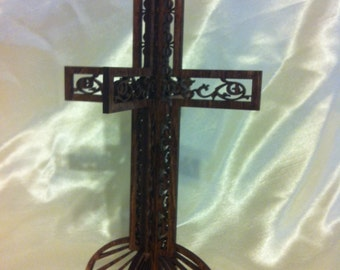 3D Standing Lace Center Cross