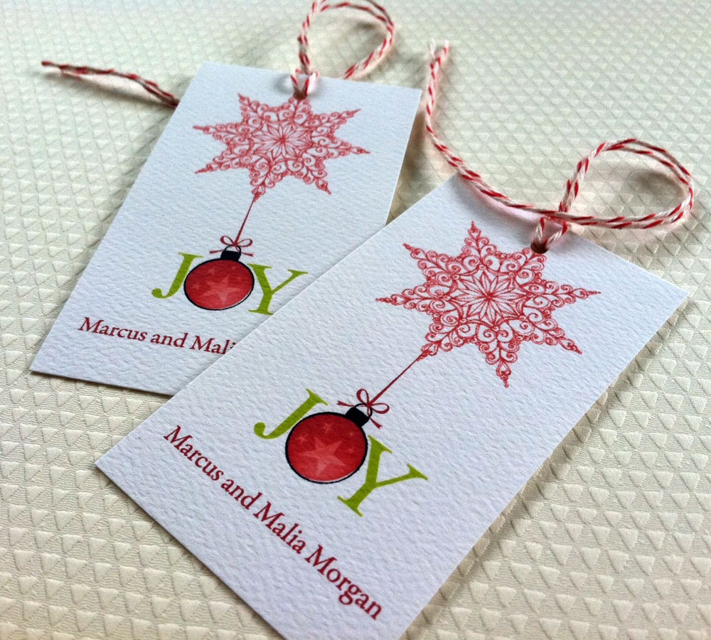 Personalized Christmas Gift Tags: Personalized Christmas Tags Christmas Gift Tags Holiday
