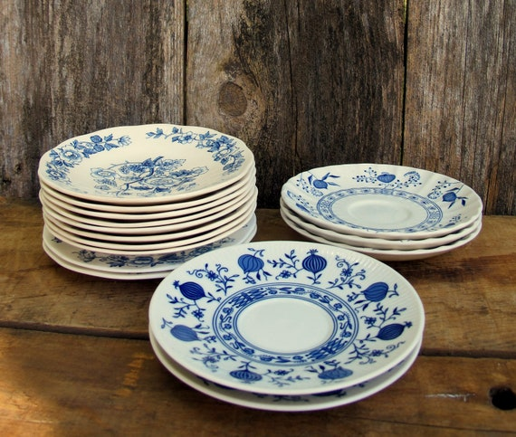 Vintage Blue and White China - Wedgwood, Seltmann Weiden, J & G Meakin