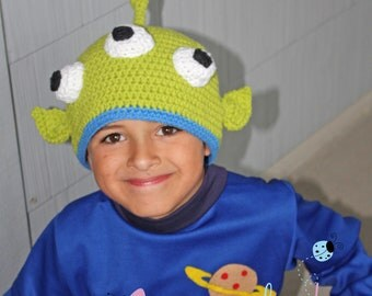 Toy Story Inspired Alien Beanie - Newborn to Adult Sizes