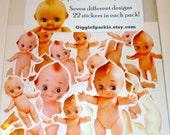 Kewpie Pie Stickers - Vintage Kewpie Dolls - cupid doll fun
