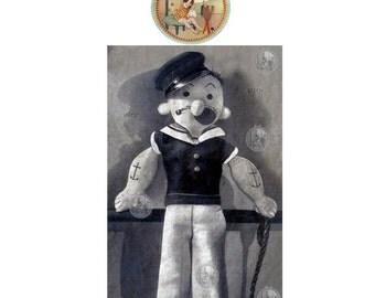 Rare Popeye Doll Vintage Sewing Pattern - Digital PDF Email Delivery - PrettyPatternsPlease