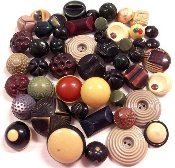 VINTAGE Buttons CELLULOID Stunning Bubble Tops Fifty (50) Balls Bubble Glow Celluloid Buttons Elegant Vintage BuTTON Destash (L27)