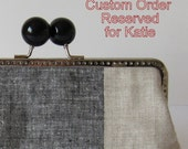 Classic Linen Clutch- Reserved