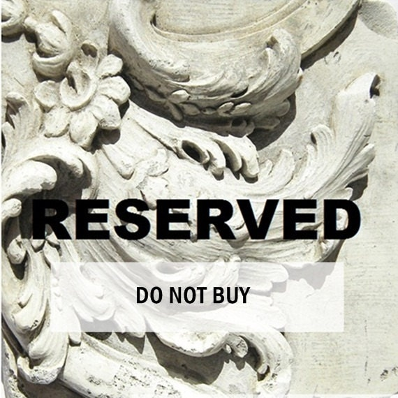 RESERVED for FLEAS