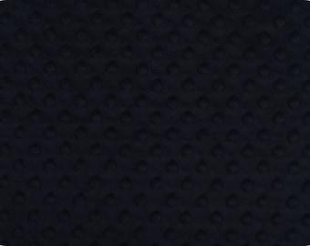 Black Cuddle Dimple/ Dot Minky (Minkee), Cuddle Dimple by Shannon Fabrics
