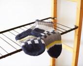 Strong chess hand knitted wool socks for men