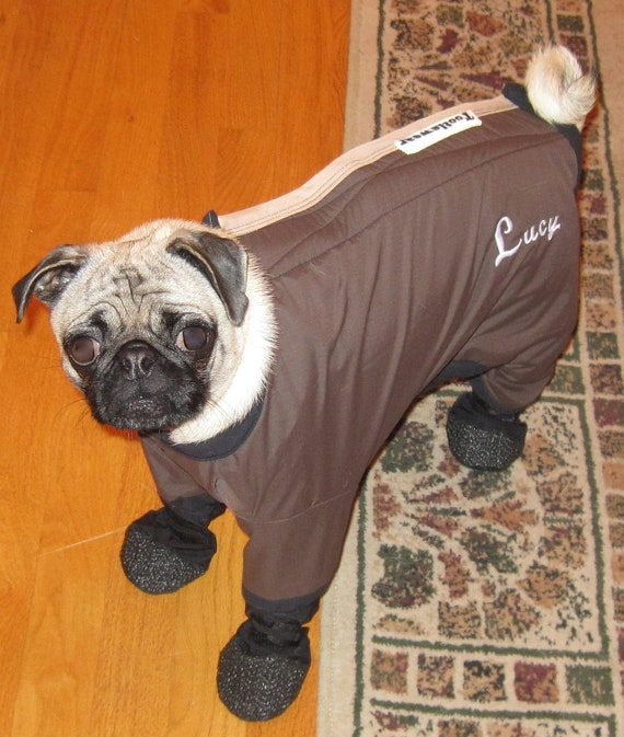 Dog Snow Suit With Boots Attached