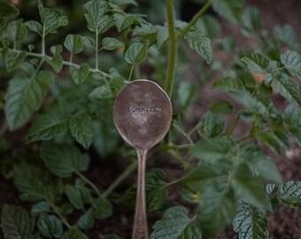 Vintage Silverware Garden Marker Tomatoes