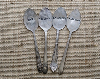 Vintage Silverware Garden Marker Plant Marker Set YOU CHOOSE FOUR