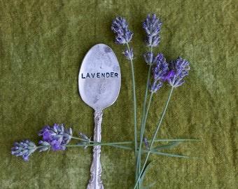 Vintage Silverware Garden Marker Lavender