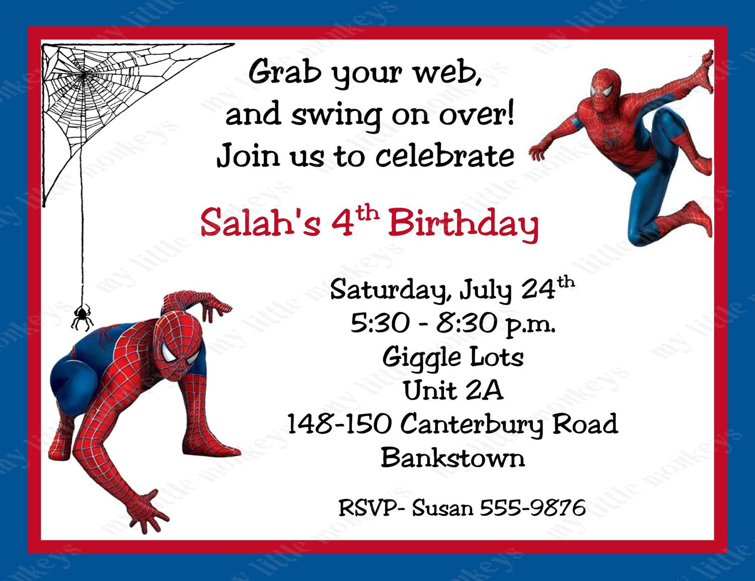 Tactueux image for printable spiderman invitations
