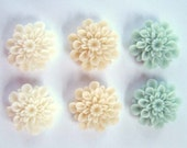 Shabby Chic Magnets, Natural, Cream, Cute Magnets, Strong Magnets