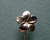 Jasmine Flower Sterling Silver Pin Hijab Pin Hat Pin Stick Pin