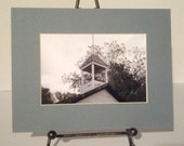 School House Photo - Matted School Bell Tower Photo - 8 x 10 Photo  - Bell Towel Photo