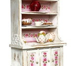 Pink Buffet 1:12      Dollhouse   Miniature  Vintage  Art Decor  Shabby Chic  French Style Home Decor