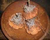 6 Primitive Small Fall Pumpkin Bowl Fillers