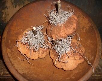 6 Primitive Small Fall Pumpkin Bowl Fillers
