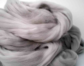"""Ashland Bay Solid Colored Merino for Spinning or Felting """"Pewter""""  4 oz."""