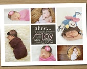Baby Announcement: Baby Boy, Baby Girl Print Your Own Birth Announcement (Nolan collage)