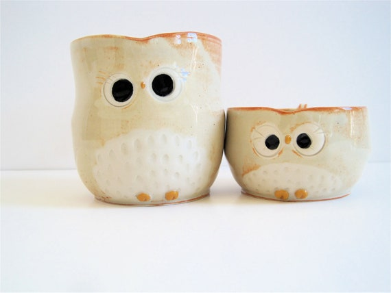 Hooter Owl Mug Set Mama and Baby owls for Expecting Mother Shower Gift - Nursery Decoration