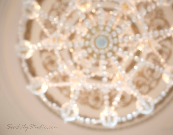 Chandelier : crystal chandelier photo antique san francisco photography champagne aqua sparkle home decor 8x10 11x14 16x20 20x24 24x30