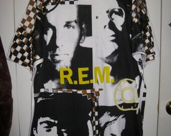 Vintage Original early 90's R.E.M. 1992 Radio Song T-shirt size XL rem