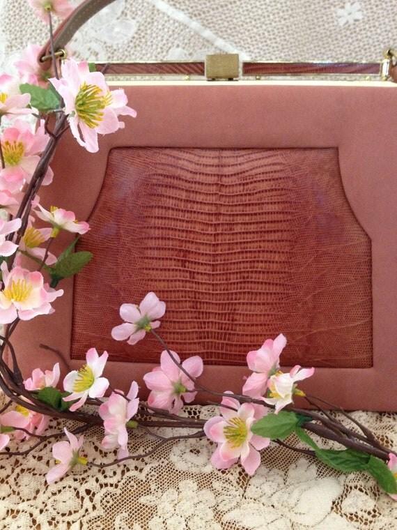 Vintage pink purse -So Unmistakably Johansen- very romantic