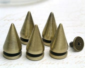10 sets 10x20mm brass BRUSH CONE tree screwback spikes Studs