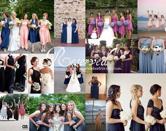 Reserved listing for Britts Wedding Party-4 Long Dresses-Southern Blush/Cottage Dusty Rose
