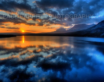 "Mountain Photography - Photo Art - photography - Landscape Photography - Lake St Marys - Montana-12 x 18"" - Glacier National Park"