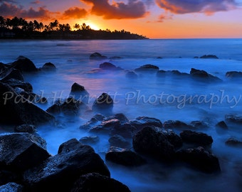 Photo Art -  Landscapape Phototgraphy - Photography - Hawaiian Photography - Sunrise - Kauai - Hawaii- 12 X 18 -  Print