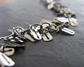Silver Plated Charmed Chain Bracelet - Razor Blades