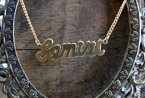 Gemini Astrological Sign Necklace
