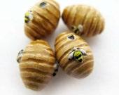 20 Tiny Bee Hive Beads