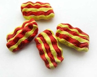 10 Tiny Bacon Beads