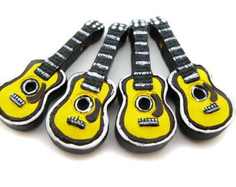 10 Large Ceramic Guitar Beads - LG291
