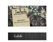 Business Card design premade or Mommy Calling Card - Unique - Printable - Vintage, Retro, Floral, Purple, Cream, Floral - FADED MEMORIES