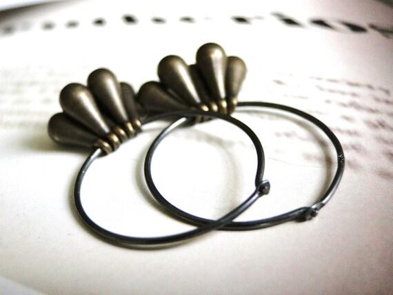 Drop Earrings, Jewelry, Sterling Silver Statement Earrings, Drop Earrings, Solid Brass, Steampunk Jewelry, Gift for Her, Accessories