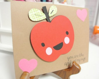 You're the apple of my eye greeting card