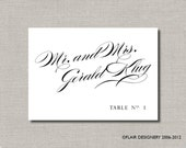 Graceful Collection - Set of 100 - Any Color, Place Cards for Weddings, Parties, Events and more by Abigail Christine Design