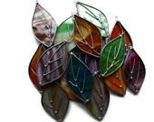 Stained Glass Suncatcher Leaves - Window Art Ornament Decoration
