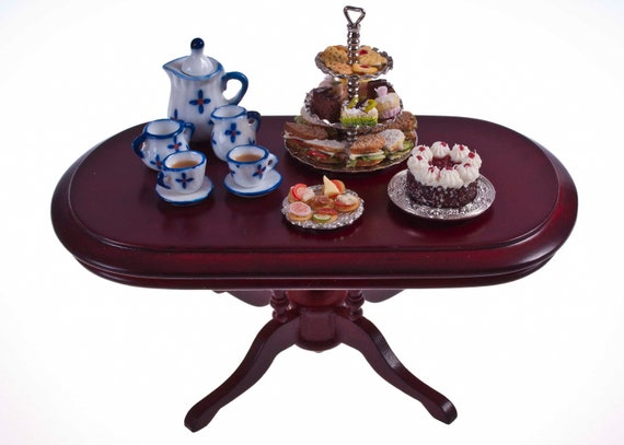 Afternoon tea set for two  miniature dollhouse food