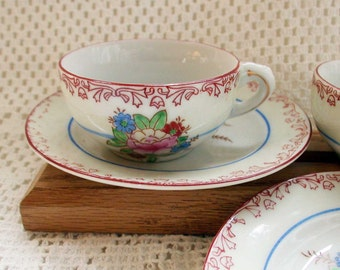 Pair of Antique Doll Cups and Saucers