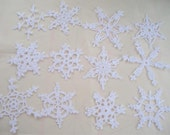 12 Beautiful Crocheted Snowflakes (A13)