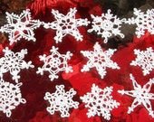 12 Beautiful Crocheted Snowflakes (20126A)