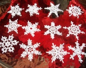 12 Beautiful Crocheted Snowflakes (A15)