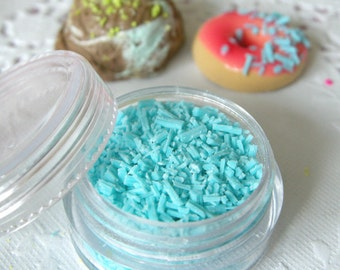 Fake Topping (Blue) Faux Sprinkles Flakes Miniature Sweets Cupcake Cookie Cell Phone Deco TP011